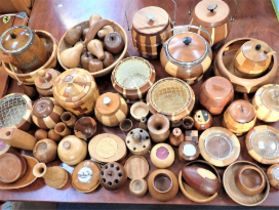 A COLLECTION OF 'LANCRAFT' LAMINATED WOOD WARE