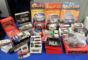 A COLLECTION OF MODEL RALLY CARS