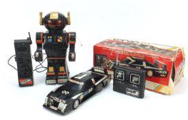 Toyota Celica remote control car and a robot