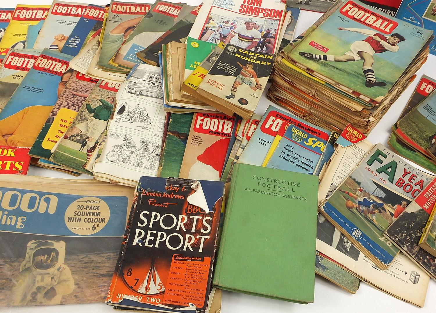 Collection of vintage and later football related books and magazines including The Real Madrid and - Image 5 of 7