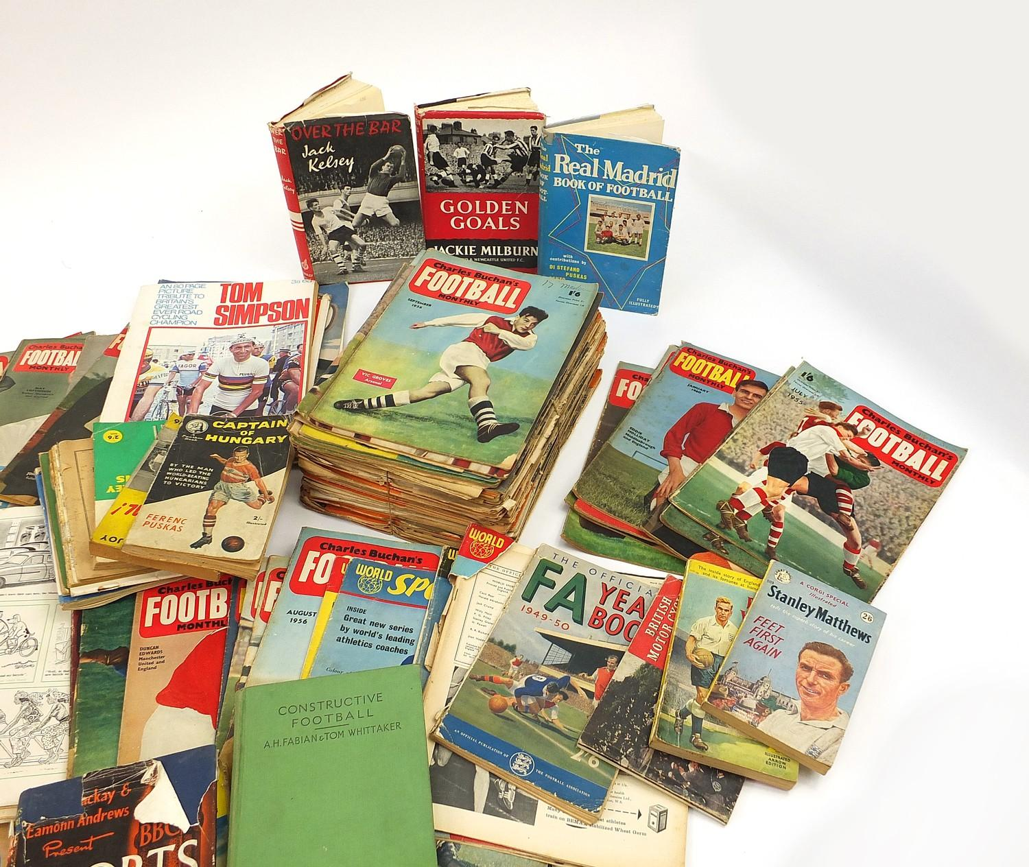 Collection of vintage and later football related books and magazines including The Real Madrid and - Image 4 of 7