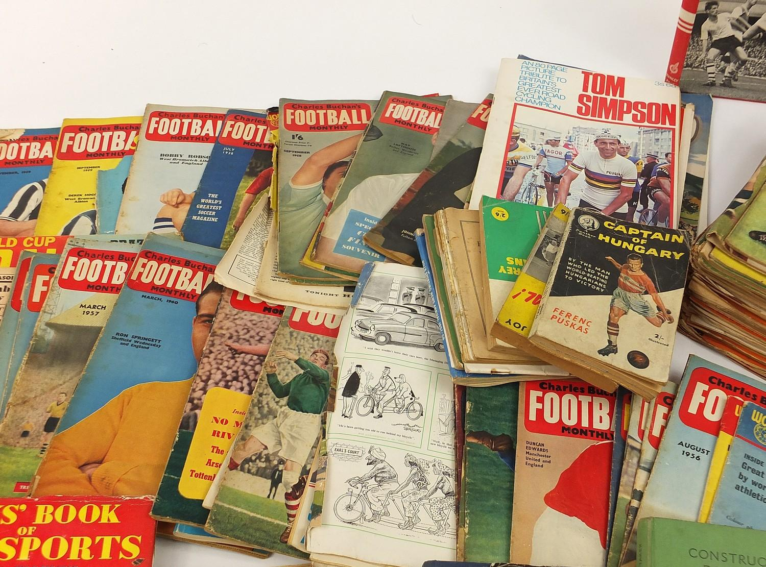 Collection of vintage and later football related books and magazines including The Real Madrid and - Image 3 of 7