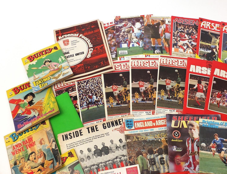 Vintage and later ephemera comprising Arsenal Football programmes and Bunty magazines : - Image 2 of 7