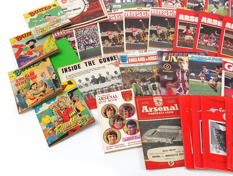 Vintage and later ephemera comprising Arsenal Football programmes and Bunty magazines : - Image 7 of 7