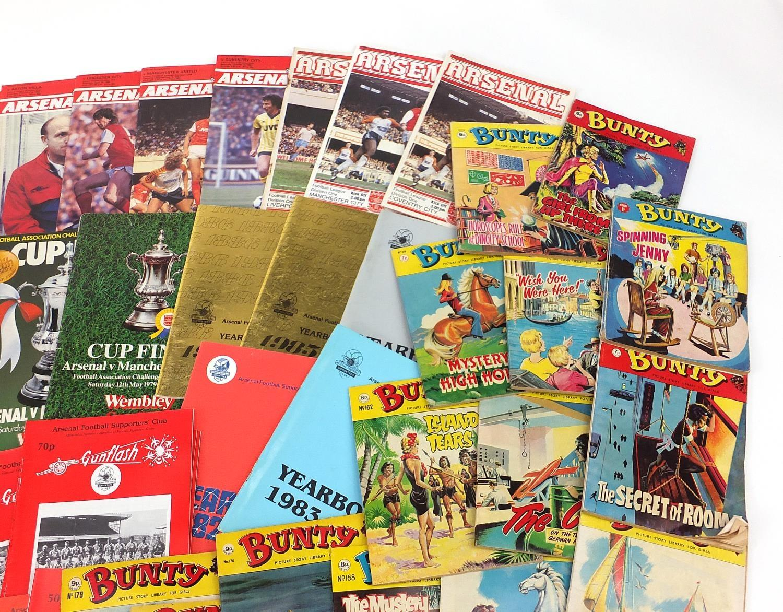 Vintage and later ephemera comprising Arsenal Football programmes and Bunty magazines : - Image 4 of 7