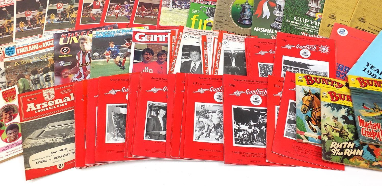Vintage and later ephemera comprising Arsenal Football programmes and Bunty magazines : - Image 6 of 7