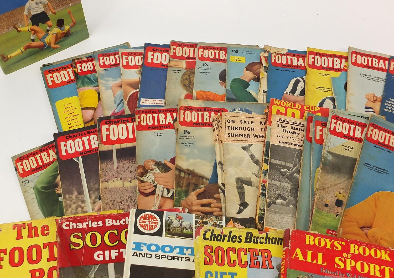 Collection of vintage and later football related books and magazines including The Real Madrid and - Image 2 of 7