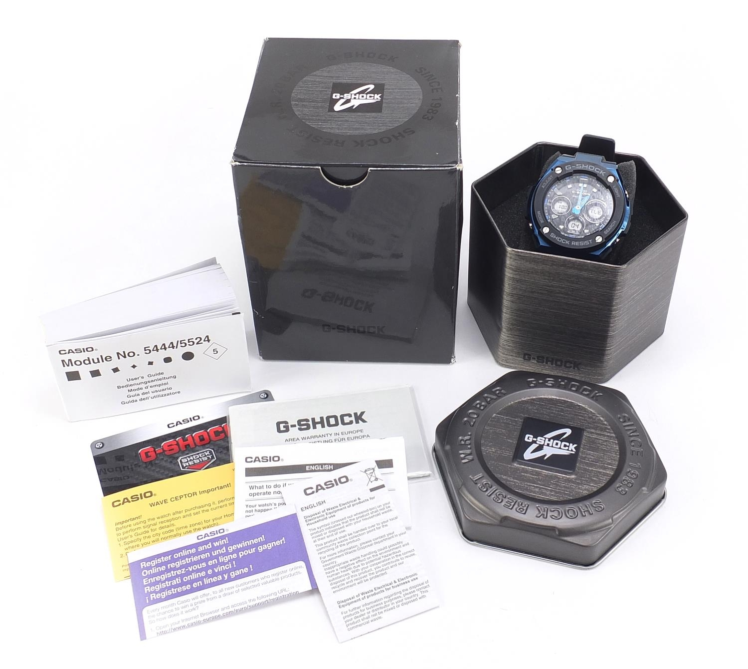 Casio, gentlemen's G-Shock wristwatch with box and paperwork, model GST-W300G :For Further Condition - Image 6 of 8