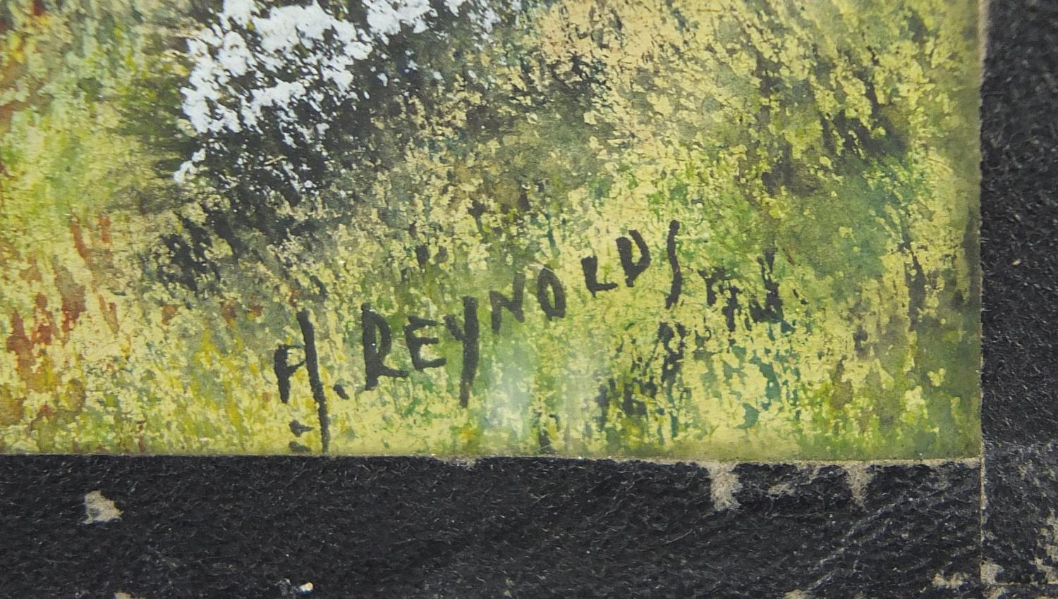 H Reynolds - Brent Tor landscapes, two heightened watercolours, framed and glazed, each - Image 9 of 11