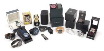 Fourteen ladies and gentlemen's wristwatches with boxes including Sekonda, Civo, BiDen, Megalith,