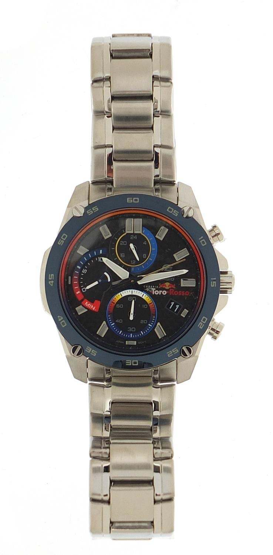 Casio Edifice, gentlemen's limited edition Scuderia Toro Rosso wristwatch with box, certificate - Image 2 of 7