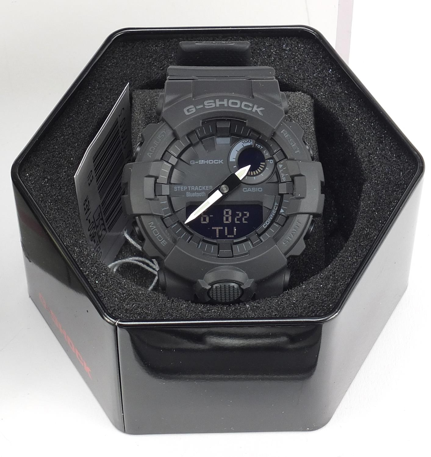 Four gentlemen's Casio G-Shock wristwatches with boxes, numbered GA-100, GA-100CF, GBA-800 and GW- - Image 3 of 5
