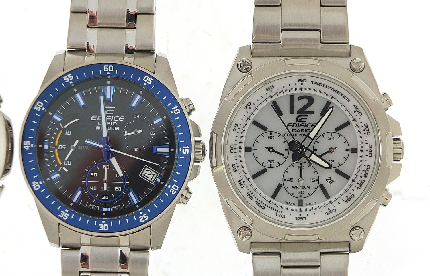 Four gentlemen's Casio Edifice wristwatches, three with boxes and paperwork, models EFR-545, ECW- - Image 3 of 6