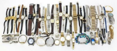 Vintage and later ladies and gentlemen's wristwatches including Bench, Ingersoll, Sekonda and