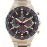 Casio Edifice, gentlemen's Scuderia Toro Rosso solar 2018 limited edition wristwatch with box,