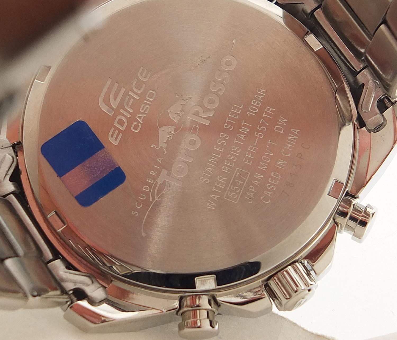 Casio Edifice, gentlemen's limited edition Scuderia Toro Rosso wristwatch with box, certificate - Image 4 of 7