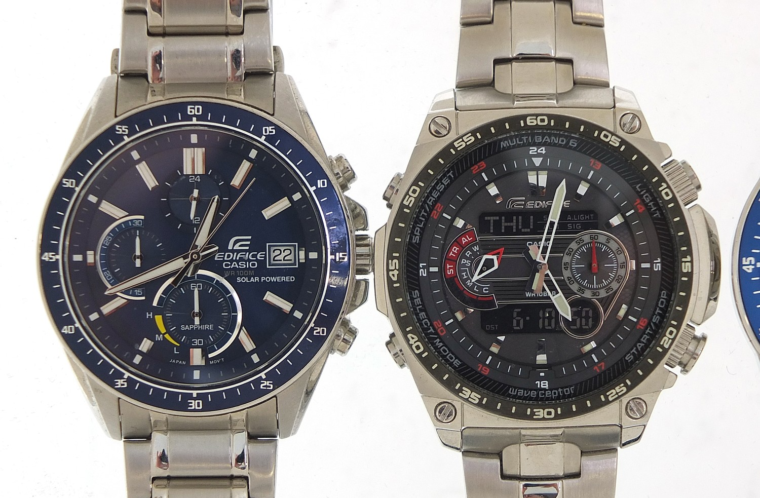 Four gentlemen's Casio Edifice wristwatches, three with boxes and paperwork, models EFR-545, ECW- - Image 2 of 6