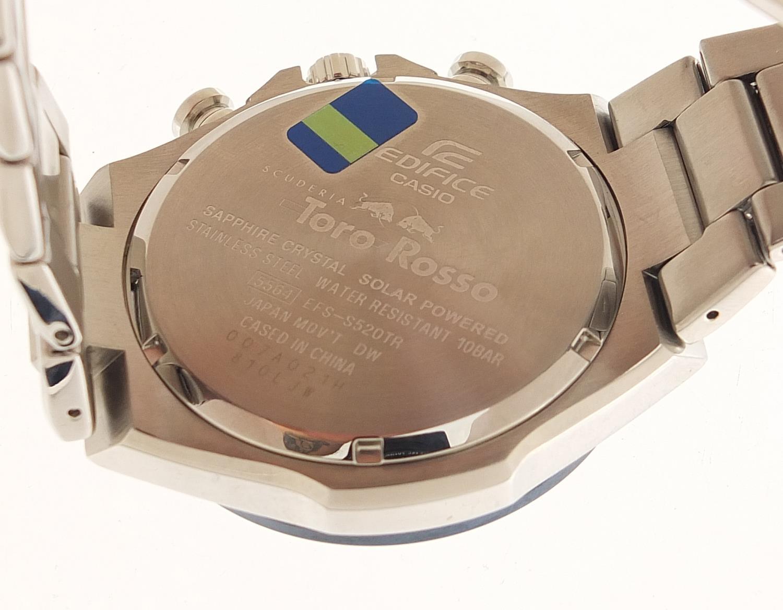 Casio Edifice, gentlemen's Scuderia Toro Rosso solar 2018 limited edition wristwatch with box, - Image 5 of 6