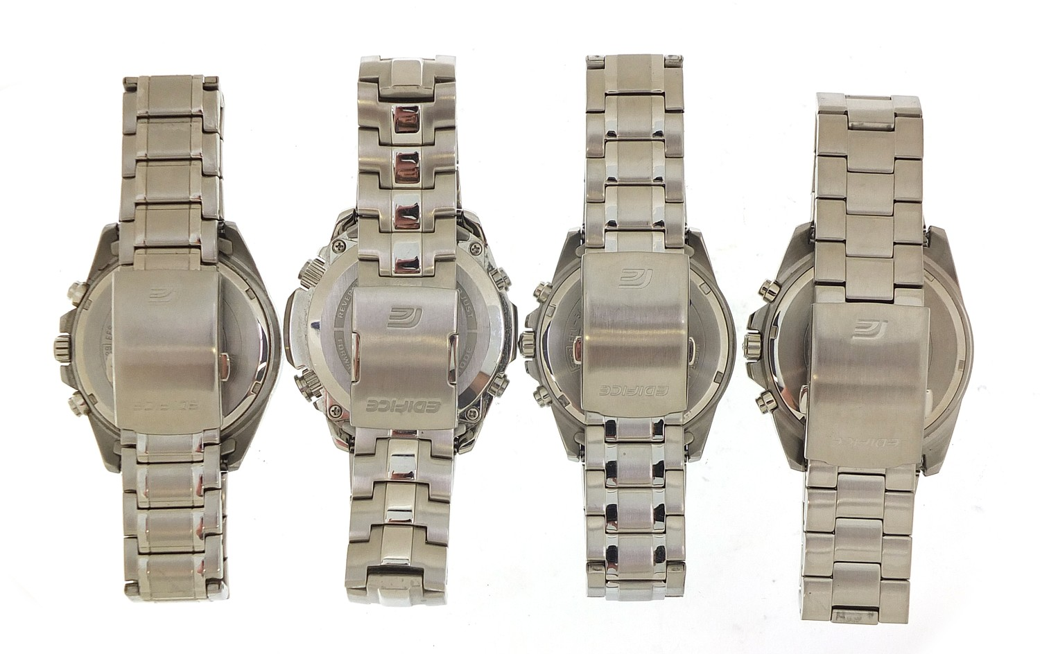 Four gentlemen's Casio Edifice wristwatches, three with boxes and paperwork, models EFR-545, ECW- - Image 5 of 6