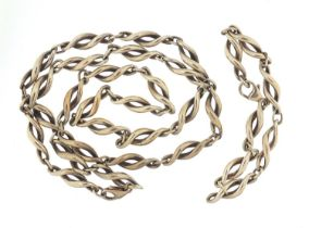 Mappin & Webb Modernist silver necklace and bracelet housed in a John Donald velvet and silk lined