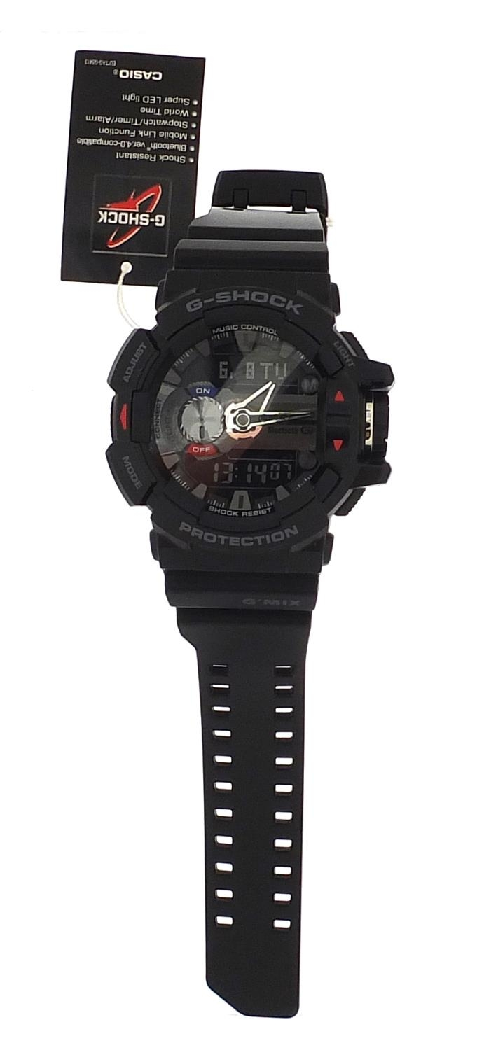 Casio, gentlemen's G-Shock wristwatch with box and paperwork, model GBA-400 :For Further Condition - Image 2 of 8
