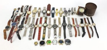 Vintage and later ladies and gentlemen's wristwatches including Lorus and Accurist :For Further