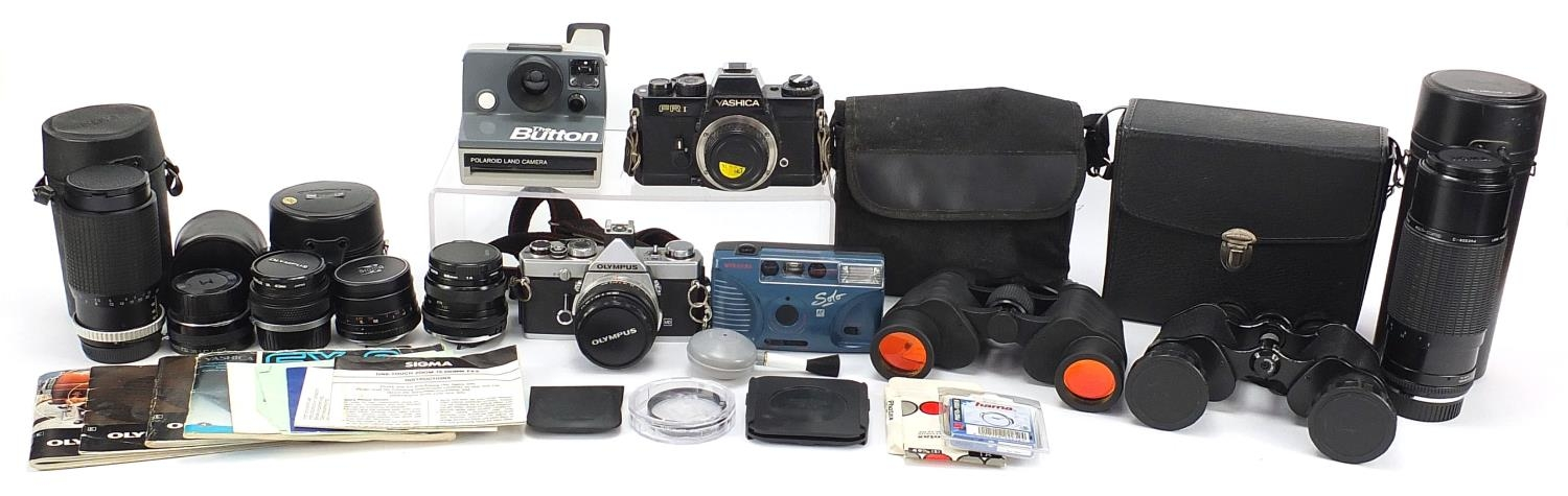 Vintage and later cameras and accessories including Yashica FR I, Olympus and Sigma :For Further