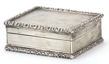 Frederick Thomas Buckthorpe, Edward VII silver snuff box with secret compartment to the hinged