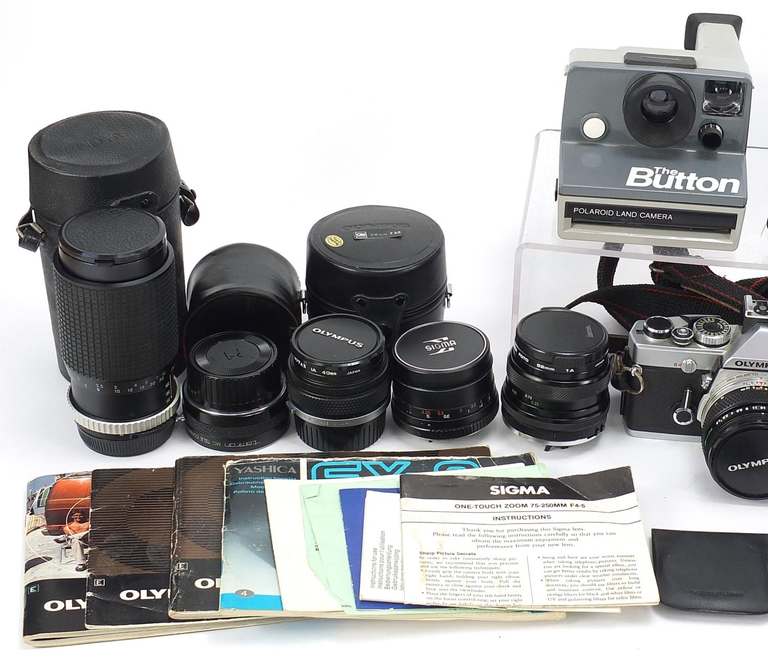 Vintage and later cameras and accessories including Yashica FR I, Olympus and Sigma :For Further - Image 2 of 5