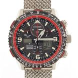 Citizen Eco-Drive, gentlemen's Royal Air Force Red Arrows wristwatch with box, paperwork and display