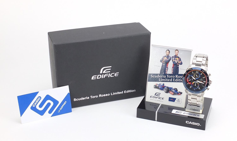 Casio Edifice, gentlemen's limited edition Scuderia Toro Rosso wristwatch with box, certificate - Image 6 of 7