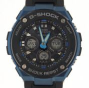 Casio, gentlemen's G-Shock wristwatch with box and paperwork, model GST-W300G :For Further Condition