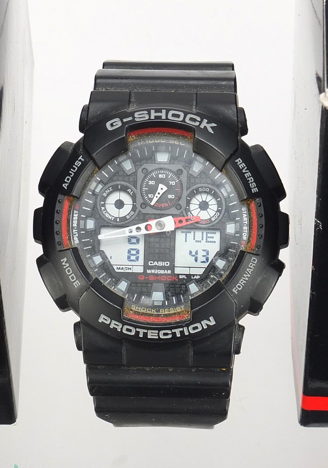 Four gentlemen's Casio G-Shock wristwatches with boxes, numbered GA-100, GA-100CF, GBA-800 and GW- - Image 2 of 5