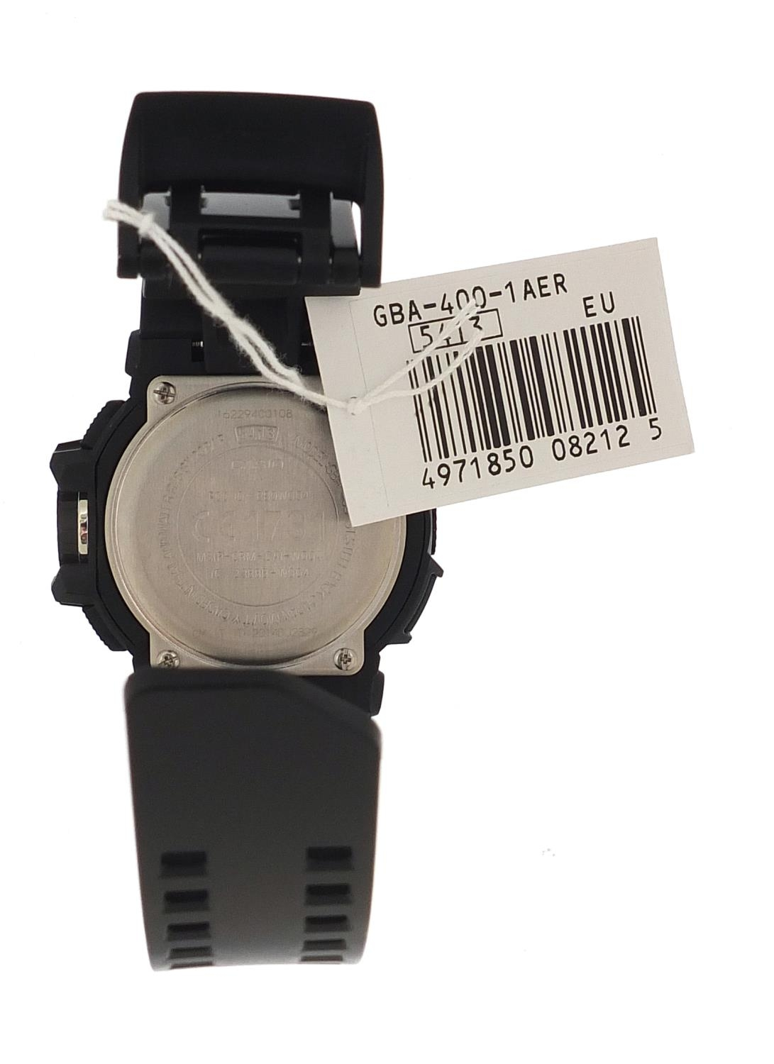 Casio, gentlemen's G-Shock wristwatch with box and paperwork, model GBA-400 :For Further Condition - Image 4 of 8