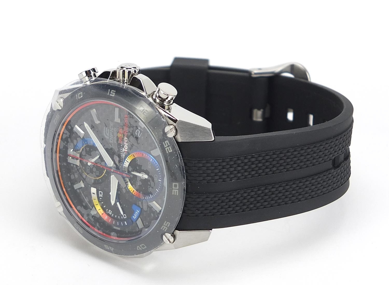 Casio Edifice, gentlemen's limited edition Scuderia Toro Rosso wristwatch with box, certificate - Image 3 of 8
