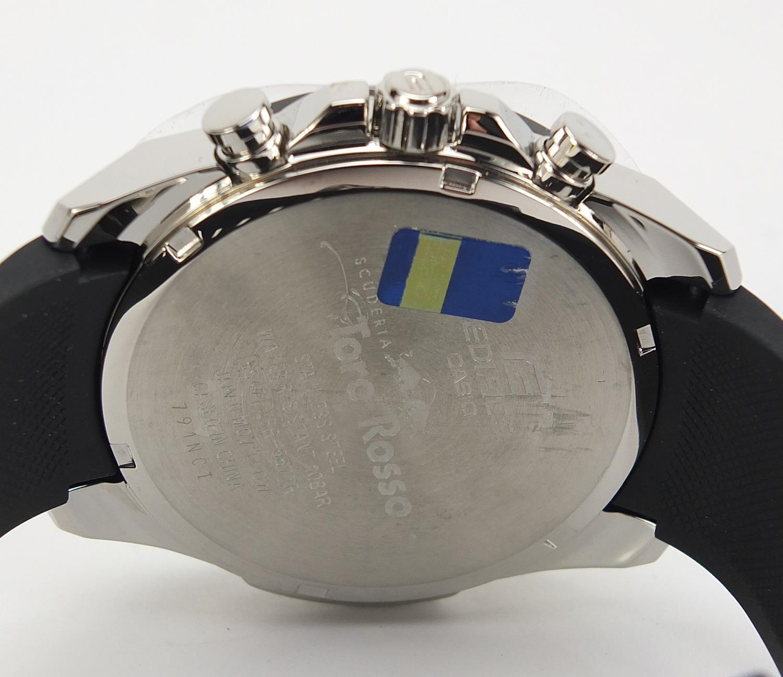 Casio Edifice, gentlemen's limited edition Scuderia Toro Rosso wristwatch with box, certificate - Image 5 of 8
