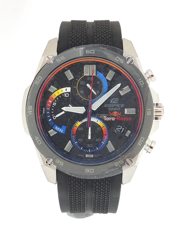 Casio Edifice, gentlemen's limited edition Scuderia Toro Rosso wristwatch with box, certificate