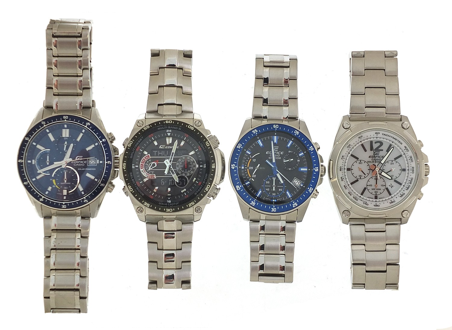 Four gentlemen's Casio Edifice wristwatches, three with boxes and paperwork, models EFR-545, ECW- - Image 4 of 6