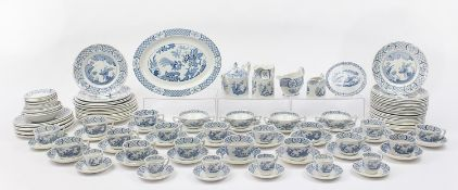 Collection of Furnivals & Masons Old Chelsea dinner and teaware including teapot and stand, cups
