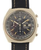 Omega, gentlemen's Speedsonic F300 electronic chronometer wristwatch with day/date aperture, box and