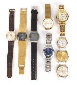 Vintage and later gentlemen's wristwatches including Swatch Irony, Smith's Empire, Citizen and