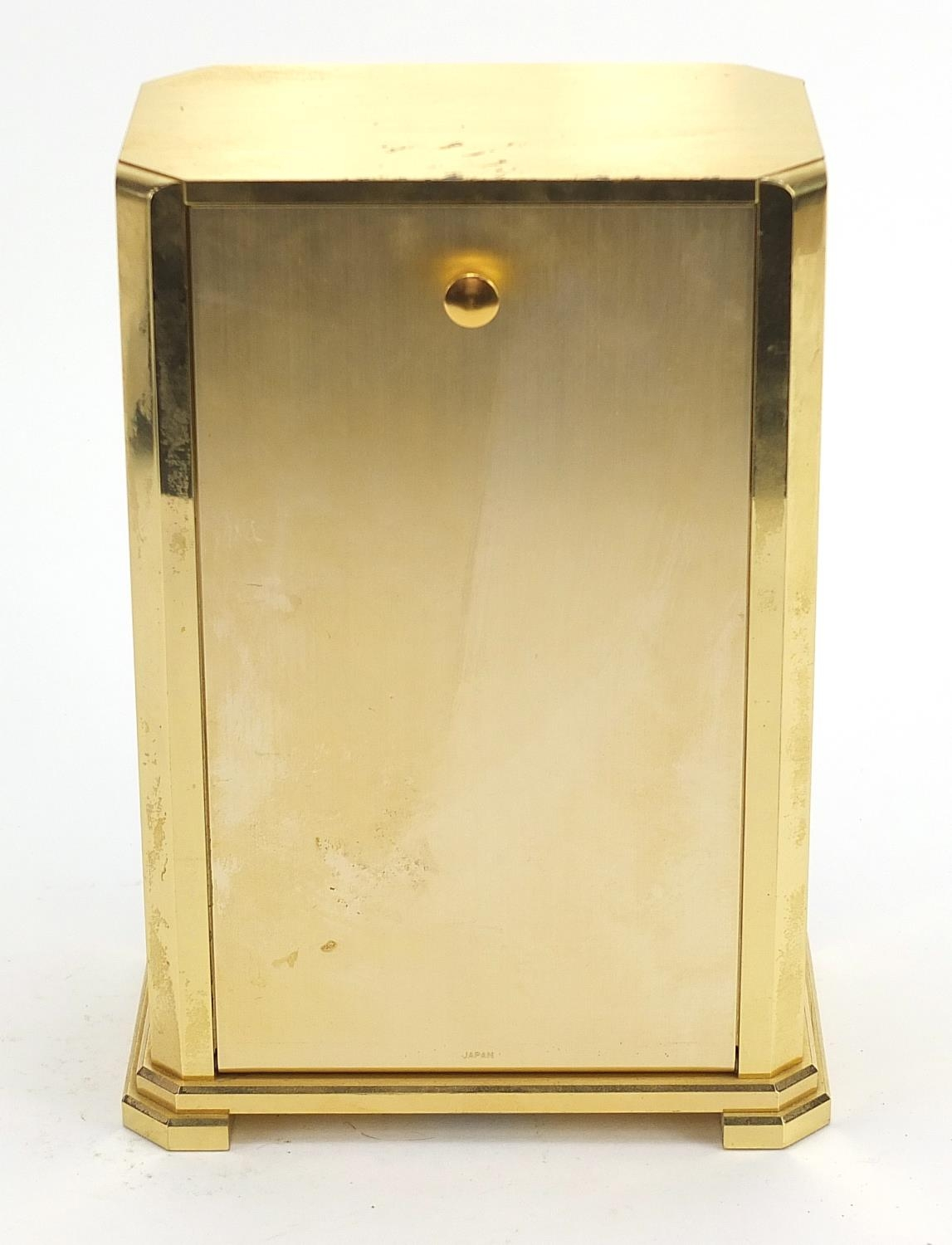 Seiko Westminster-Whittington mantle clock with Roman numerals, 20cm high : For Further Condition - Image 3 of 4