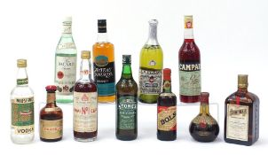 Vintage and later alcohol including Bacardi rum, Cointreau and Bols : For Further Condition