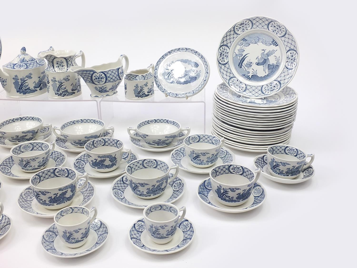Collection of Furnivals & Masons Old Chelsea dinner and teaware including teapot and stand, cups - Image 4 of 5