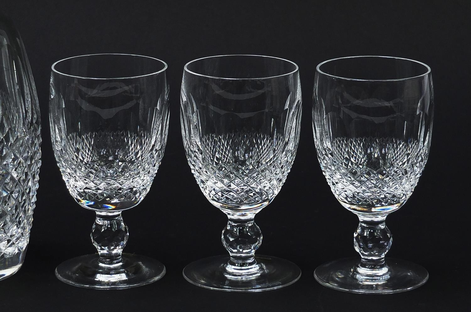 Waterford Crystal Colleen pattern decanter and six glasses with boxes, the decanter 26cm high : - Image 4 of 9