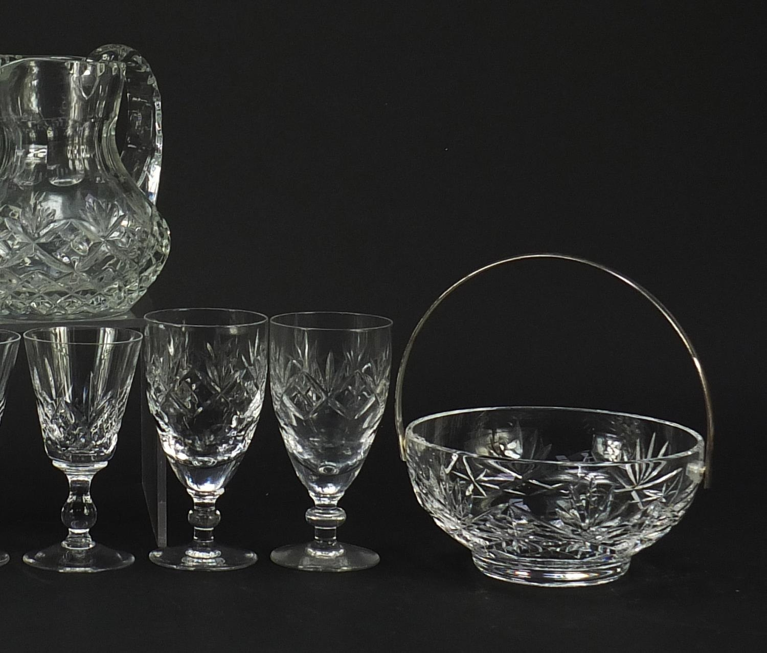 Cut glassware and crystal including pair of Waterford casters, Stuart and Royal Doulton, the largest - Image 4 of 8