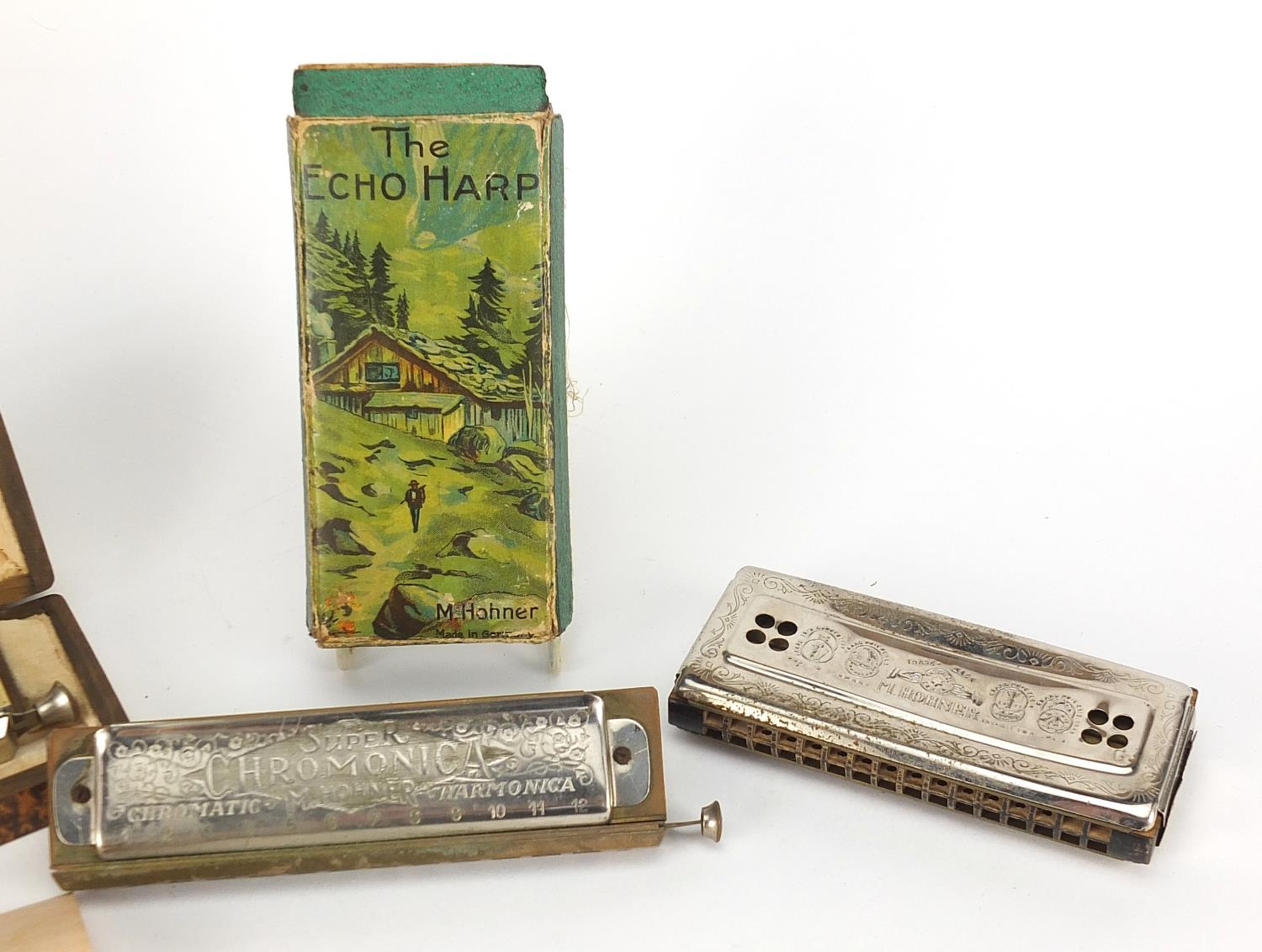 Three vintage harmonicas including The 64 Chromonica by Hohner, Super Chromonica by Hohner and - Image 6 of 6