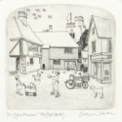 Graham Clarke - For you Madame, artist's proof pencil signed etching, mounted, framed and glazed,
