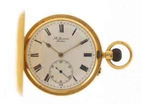 J W Benson, gentlemen's 18ct gold full hunter pocket watch, the movement engraved The Field 1734,