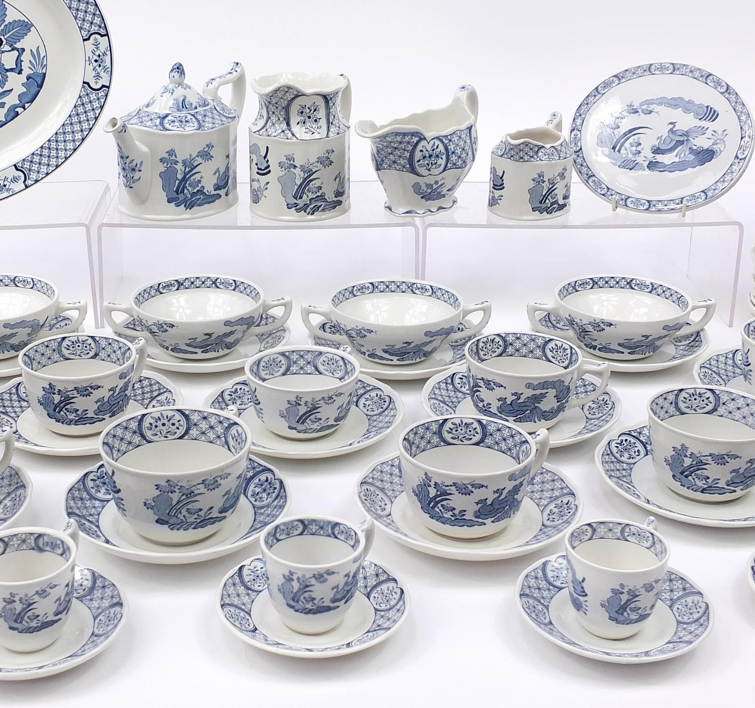 Collection of Furnivals & Masons Old Chelsea dinner and teaware including teapot and stand, cups - Image 3 of 5